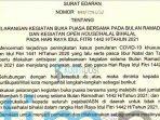 Mendagri Larang Bukber dan Open House Idul Fitri 1442 H